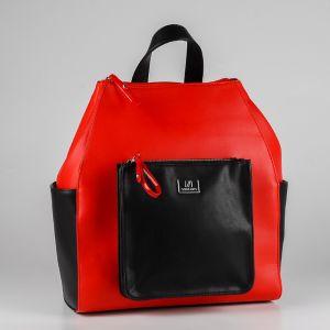 Рюкзак женский 1509810; экокожа; красный