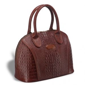Каркасная женская сумка BRIALDI Villena (Вильена) croco brown
