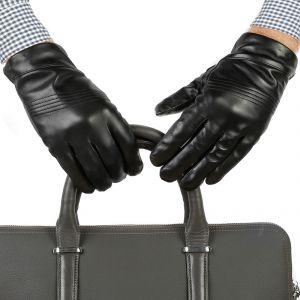 Перчатки мужские 27К_40023_10_1308П; кожа; черный (Размер 8)