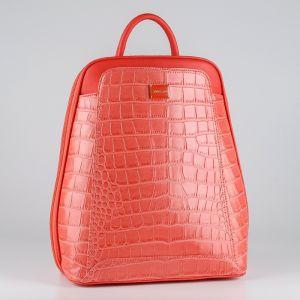 Рюкзак женский 1511820; экокожа; рубиновый