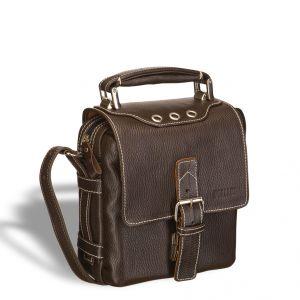 Кожаная сумка через плечо BRIALDI Page (Пейдж) brown