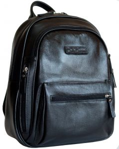 Женский кожаный рюкзак Carlo Gattini Bolsena black