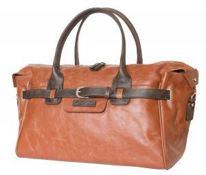Кожаная дорожно-спортивная сумка Carlo Gattini Adamello cognac