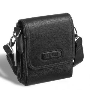 Кожаная сумка через плечо BRIALDI Cleveland (Кливленд) relief black