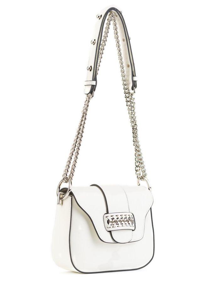 Белая сумочка через плечо